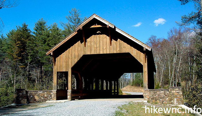 dupont covered bridge hike wnc